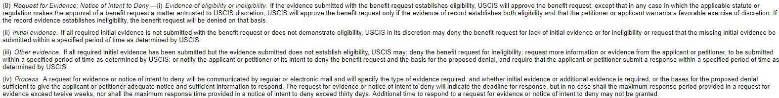The Case Against the New USCIS Policy on Denials Without