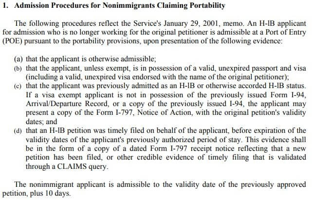USCIS Memo on New or Amended H1B Petitions after Worksite